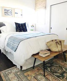 508 Likes, 11 Comments - Brit Cozy Bedroom, Dream Bedroom, Bedroom Decor, Bedroom Inspo, Bedroom Ideas, Guest Bed, Guest Room, Dream Home Design, Beautiful Bedrooms