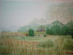 Early Morning Mist - Cape Cod- watercolor