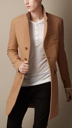 Men Wool Cashmere Chesterfield Coat | Men&39s Style | Pinterest