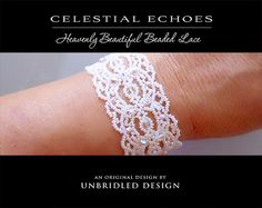 Celestial Echoes beaded lace pdf tutorial by UnbridledDesign