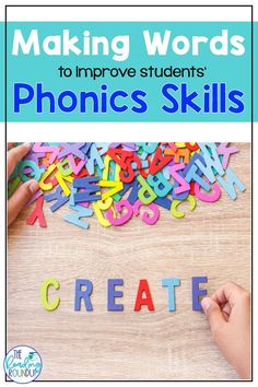 Are you looking for an easy and engaging literacy center that you can use with your students all year? In the Making Words phonics activity elementary students make words from letters in larger words, such as the names of holidays. It's the perfect activity to help improve students' phonics and spelling skills. #thereadingroundup #literacycenters #phonics #wordwork