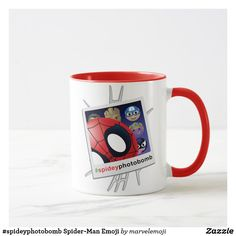 Shop Spider-Man Emoji Mug created by marvelemoji. Emoji Mug, Emoji Design, Breakfast Tea, Big Design, Favorite Color, Dinnerware, Spiderman, Coffee Mugs, Marvel