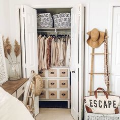 5 IKEA Hacks for Small Closets | Apartment Therapy Small Closet Storage, Tiny Closet, Small Closets, Wardrobe Storage, Hidden Storage, Bedroom Storage, Diy Custom Closet, Custom Closets, Deep Closet