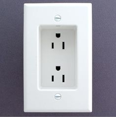 little house.if you ever build or remodel - use recessed outlets so that the plugs don't stick out from the wall. This allows furniture to be flat against the wall.--seriously why didnt we think of this before? Do It Yourself Organization, Home Organization, Organizing Ideas, Recessed Outlets, Electrical Outlets, Wall Outlets, Kitchen Outlets, Electrical Work, Just In Case