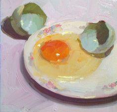 """""""Eggspressive""""   oil on canvas  Dennis Perrin dennisperrinfineart.com"""