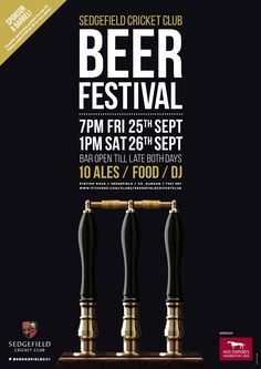 Cricket Club Beer Festival Poster