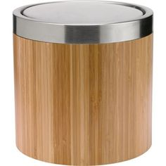 Eden Bamboo & Stainless Steel Bin at Homebase -- Be inspired and make your house a home. Buy now. Bathroom Plumbing, Bathroom Accessories, Bamboo, Stainless Steel, Make It Yourself, Diy, Stuff To Buy, House, Bathrooms