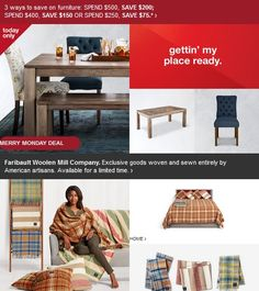 1-day furniture deal. Save more when you spend more. #coupons #sale #discount Click here https://freshpickeddeals.com/target.com/1-day-furniture-deal-save-more-when-you-spend-more-616303