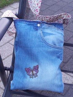 Bag made of old jeans