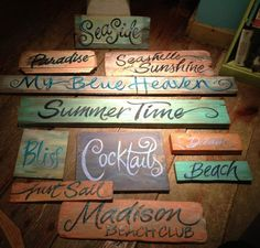 Driftwood signs #ideas #driftwood #jumblzar #wedding