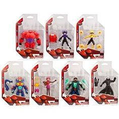 Big Hero 6 Action figure set includes all the Big Hero 6 team