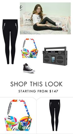 """""""Boombox"""" by haileyvontz ❤ liked on Polyvore featuring Moschino, MICHAEL Michael Kors, Converse and iHome"""