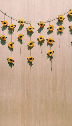 what you need// fake sunflowers (buy full size flowers from dollar store and cut stems) twine large piece of plywood. Trendy Wallpaper, Cute Wallpapers, Wallpaper Backgrounds, Yellow Room Decor, Diy Room Decor, Flower Room Decor, Yellow Rooms, Sunflower Room, Sunflower Wallpaper