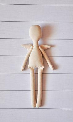 5 cuerpo de la muñeca en blanco-125  muñeca de trapo