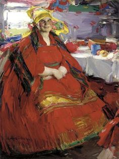 Arhkipov, Abram (1862-1930) - 1917 Russian Peasant Woman Drinking Tea (Christie's New York, 2003) by RasMarley, via Flickr
