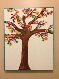 Button Tree Craft | The Crafty Contemplative