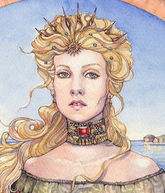Cersei Lannister at Kings Landing by Anne Hathaway. Beautiful
