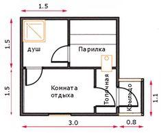 Баня размером 3 на 3: фото планировок Sauna House, Thing 1, Storytelling, Floor Plans, Punk, Home Decor, Garden, Summer, Diy And Crafts