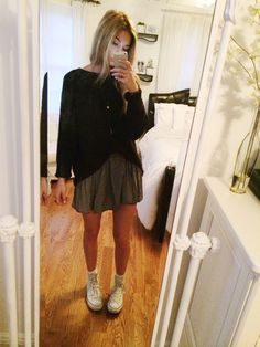outfit today because its the first day of april and yolo - brandy melville skirt and necklace, forever 21 sweater, converse - have a great day beautifuls, i hope you feel happy and meet a cute boy...