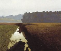 "rickstevensart: "" Marc Bohne   In the Flood Plain   24 x 30""   oil on canvas "" #landscapeart"