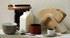 Sola and Kapu with Jatta Lavi and Nathalie Lahdenmäki ceramics. Coffee Filter Holder, Finland, Culture, Ceramics, Tableware, Glass, Ceramica, Pottery, Dinnerware