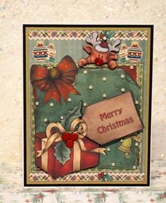 Xmas gift on Craftsuprint designed by Debra Jenkinson - made by Jackie Bullock - Deign printed onto best quality deco paper, main image matt and layered