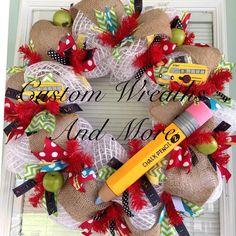 Teachers Wreath for Classroom by CustomWreathsAndMore on Etsy, $85.00