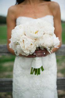 White Wedding - Peony bouquet