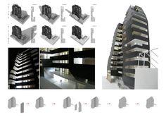 Habitar el Pulmón – Arqa Comunidad. Análisis de asoleamiento. Operaciones morfológicas para la optimización espacial, de iluminaciones y ventilaciones. Edificio Urquiza
