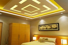 Looking for designer Residential False Ceilings? Check out Saint Gobain Gyproc's extensive range of Residential False Ceiling designs. Down Ceiling Design, Gypsum Ceiling Design, House Ceiling Design, Ceiling Design Living Room, Bedroom False Ceiling Design, Home Ceiling, Home Room Design, Fall Ceiling Designs Bedroom, Bedroom Designs Images