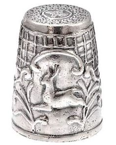 Sterling Silver Thimble - With Deer.