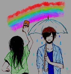 #Animecouple #Rainbow #Coloredbyme #Toukowhitegraphic  Ita: Se la prendi, mettere i crediti.. grazie. Eng: If you take it, put the credits .. thanks.