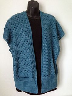 *Free Crochet Pattern:  Delray Shrug by Carol Wolf