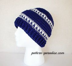 Snowy Day Hat 1 by Pattern-Paradise.com