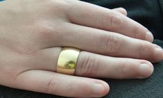Wide Wedding Bands, Wedding Rings, Gold Rings, Silver Jewelry, Jewellery, Chain, Weddings, Accessories, Jewels
