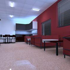 My first lighting project. It's kindergarden's breakroom. #Dialux #DialuxEvo #lighting #light