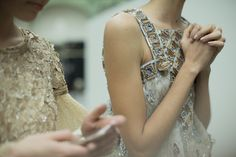 Backstage, Chanel Spring/Summer 2016 Couture, PFW.  Photo by Kevin Tachman.