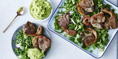 Minty Lamb + Hummus Salad