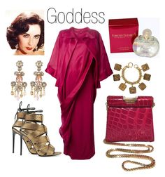 """Screen Goddess"" by boutiquebrowser ❤ liked on Polyvore featuring Tom Ford, ESCADA, Givenchy, Chanel, Elizabeth Arden, Elizabeth Taylor and Oscar de la Renta"