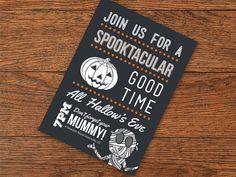 Halloween Invitation by Bradley Durham