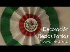 Decoración fiestas patrias|| Roseta Mexicana - YouTube