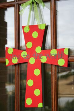 Joy to the World Cross - I should make this for my classroom