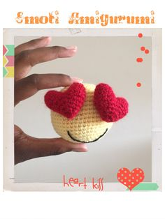 Crochet Emoji Amigurumi with heart !