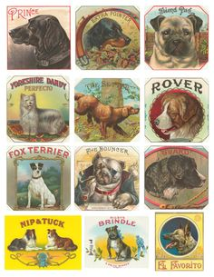 Free Vintage Dog Collage Sheet and lots of others too.