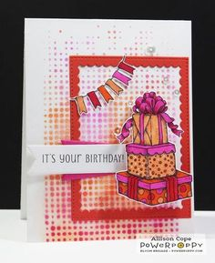 Party Time Stamp Set | Power Poppy by Marcella Hawley