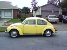 My first car looked just like this except that it had a sunroof. Vw Super Beetle, Love Drive, Exotic Sports Cars, First Car, Camper Trailers, Vw Beetles, Used Cars, Cars For Sale, Bugs