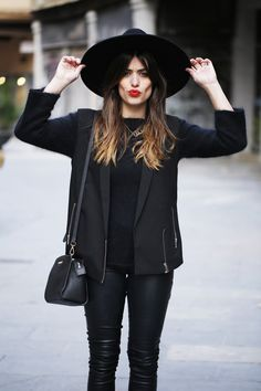 "To keep wearing all black from being ""too depressing,"" The Mirror's fashion expert Andrea Butler says to try wearing a bright lip to break up the darkness. Read more here: http://fairfieldmirror.com/the-vine/fall-fashion-jazzing-it-up/"