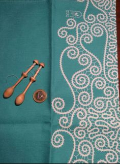 A pair of Finnish miniature lace bobbins, given to me by one of the lace makers at the outdoor lace event at Oidfa 2016 in Slovenia. Now in my bobbin collection.Latheabout.com