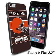 """NFL CLEVELAND BROWNS , Cool iPhone 6 Plus (6+ , 5.5"""") Smartphone Case Cover Collector iphone TPU Rubber Case Black Phoneaholic http://www.amazon.com/dp/B00VWGXZX0/ref=cm_sw_r_pi_dp_5F1nvb1ZAXPFY"""