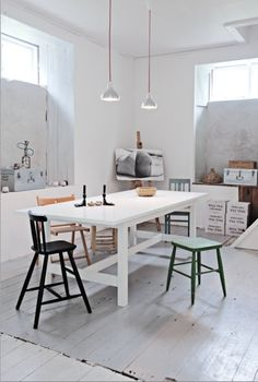 rustic wood floor, imperfections, painted white